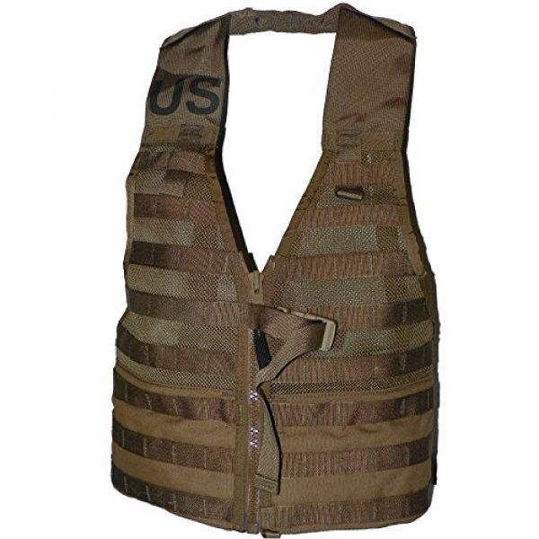 U.S.G.I. Airsoft Tactical Vest 1 2 X USMC Tactical FLC Vest, Fighting Load Carrier w/ Zipper, Coyote Brown, MOLLE II