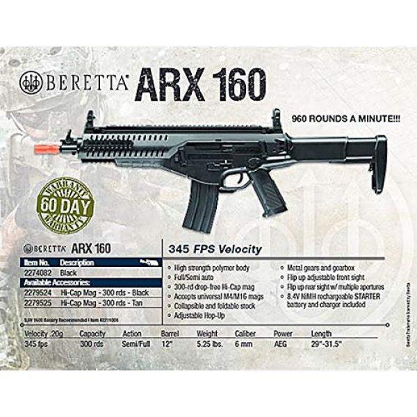 Elite Force Airsoft Rifle 7 Elite Force Beretta Arx 160 AEG Automatic 6mm BB Rifle Airsoft Gun, Arx 160 Competition, One Size, Black (2274082)