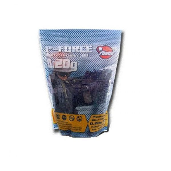 P-Force Airsoft BB 1 PForce Super Premium 5,000 .20g Airsoft BB's (Black)