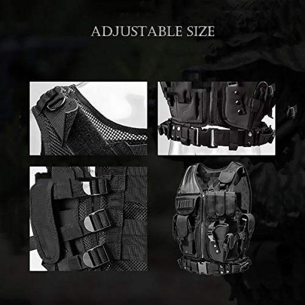 WEQ Airsoft Tactical Vest 6 WEQ Tactical Vest Modular Charge Vest Police Vest Law Enforcement Vest Adjustable Breathable Combat Training Vest