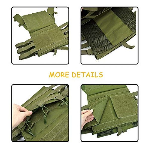BGJ Airsoft Tactical Vest 3 BGJ Tactical JPC Vest Molle Plate Carrier Military Vest Airsoft Paintball CS Game Hunting Outdoor Protective Equipment