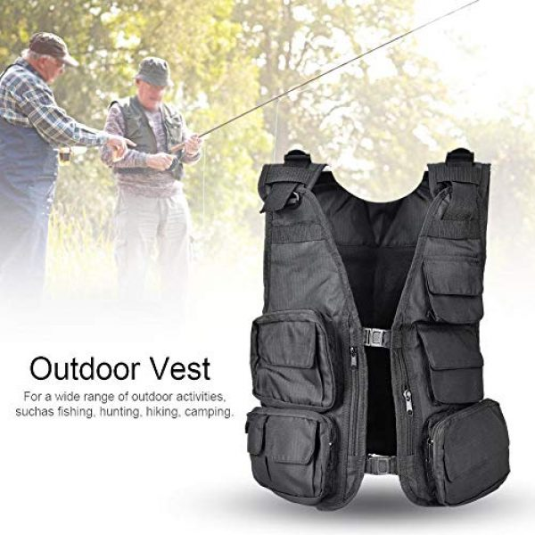 Alomejor Airsoft Tactical Vest 6 Alomejor Outdoor Sport Vest with Multi-Pocket Adjustable Breathable Vest Multifunctional Quick Dry Waistcoat for for Hiking Fishing Camping Hunting Shooting