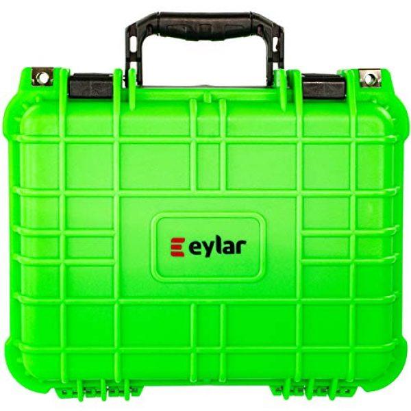Eylar Pistol Case 4 Eylar Tactical Hard Gun Case Water & Shock Proof with Foam 13.37 inch 11.62 inch 6 inch Neon Green