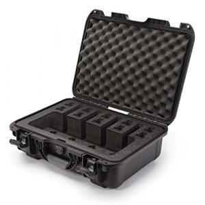 Nanuk Pistol Case 1 Nanuk 925 Waterproof Professional Gun Case, Military Approved with Custom Foam Insert for 4UP