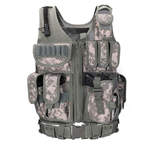 GXYWAN Airsoft Tactical Vest 1 GXYWAN Tactical CS Field Vest Paintball Training Airsoft Ultra-Light Breathable Combat Adjustable Vest