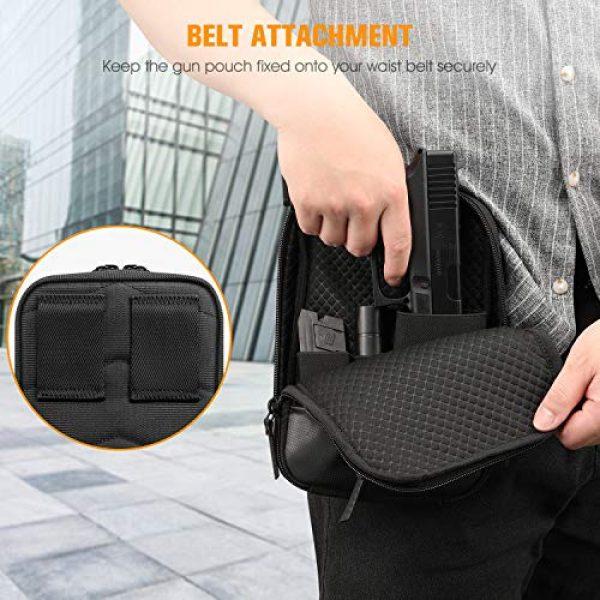 FINPAC Pistol Case 5 FINPAC Concealed Carry Gun Pouch, Pistol Holster Fanny Pack Waist Pocket for Handgun with Belt Loops, Black