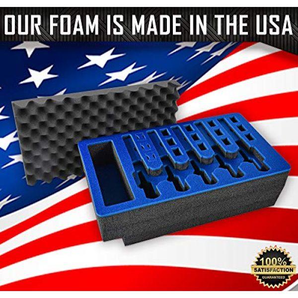 MY CASE BUILDER Pistol Case 5 Pistol & Magazine Storage Foam Insert for Apache 5800 Case -2 Piece Set Pre-Cut Military Grade Polyethylene Foam Base Insert and Lid Liner (Case Not Included)