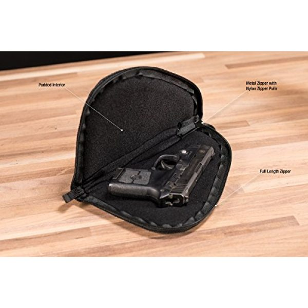 Smith & Wesson Pistol Case 3 M&P by Smith & Wesson Defender Handgun Case Single Padded Pistol Bag for Hunting Shooting Range Sports Storage and Transport