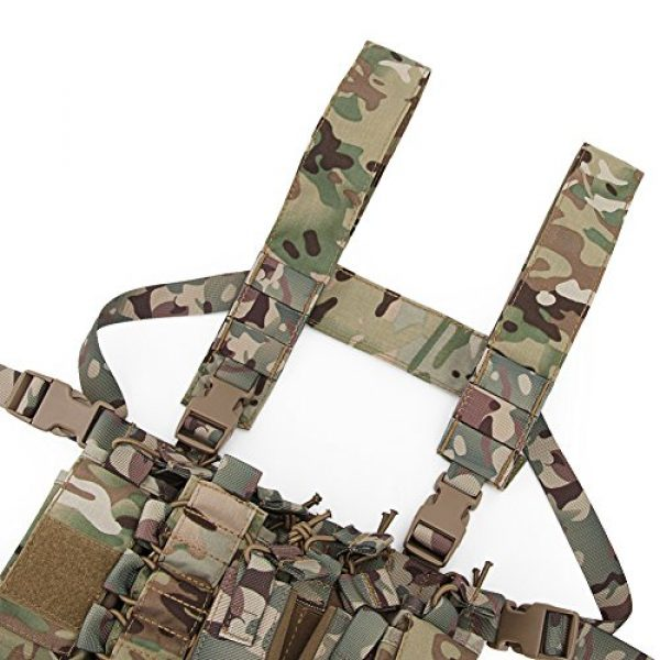 OAREA Airsoft Tactical Vest 3 OAREA Tactical Sling Vest Chest Rig Combat Recon Gear Vest with Magazine Pouch for Airsoft Hunting Games