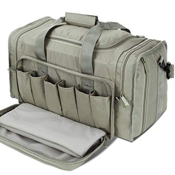 SoarOwl Pistol Case 1 SoarOwl Tactical Gun Range Bag Shooting Duffle Bags for Handguns Pistols with Lockable Zipper and Heavy Duty Antiskid Feet (Gray)