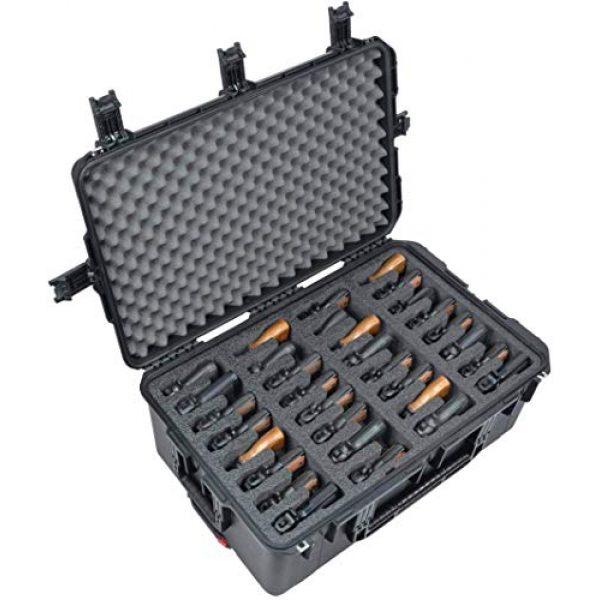 Case Club Pistol Case 1 Case Club 32 Pistol Pre-Cut Waterproof Case with x2 Silica Gel to Help Prevent Gun Rust