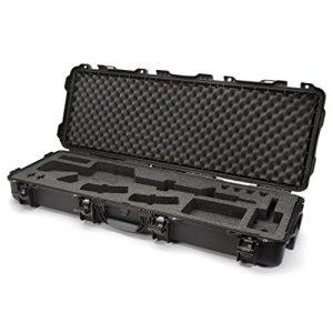 Nanuk Rifle Case 1 Nanuk 990 Waterproof Professional Gun Case with Foam Insert for AR w/ Wheels - Black