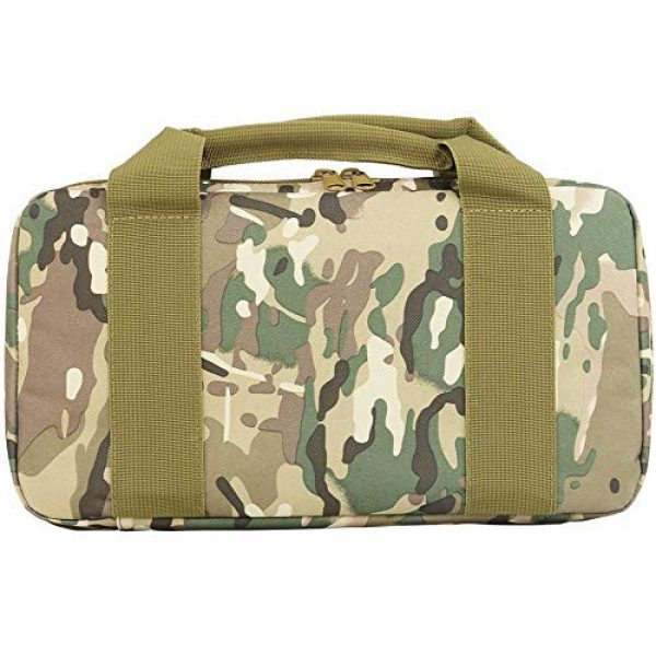 JFFCE Pistol Case 4 JFFCE Tactical Molle Pistol Storage case for Single Pistol and Mag with Heavy Duty Double Zippers