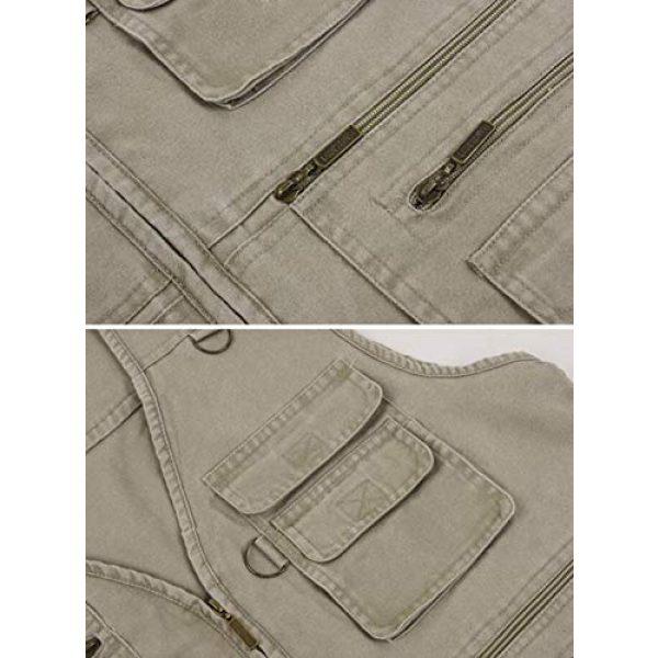 DAFREW Airsoft Tactical Vest 7 DAFREW Men's Outdoor Vest, Spring and Autumn Casual Outdoor Vest, Multi-Pocket Photography Cotton Fishing Vest (Color : Blue, Size : XXL)