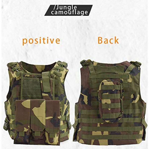BGJ Airsoft Tactical Vest 5 Tactical Vest Airsoft Military Amphibious Camouflage Combat Vest Outdoor Hunting Army Body Armor Shooting CS Protection Vests