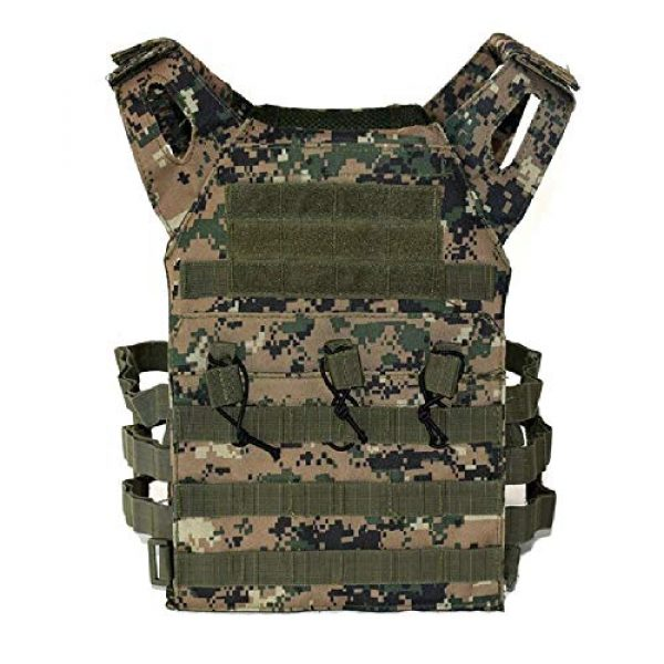 BGJ Airsoft Tactical Vest 3 Hunting Tactical Body Armor JPC Plate Carrier Vest Ammo Magazine Chest Rig Airsoft Paintball Gear Loading Bear Vests