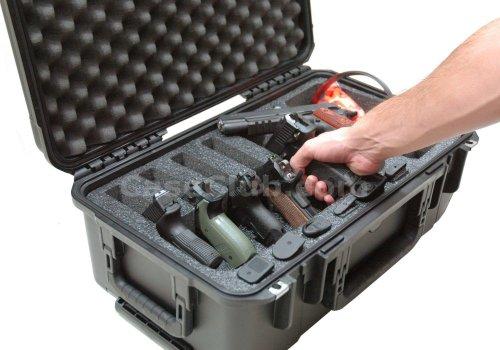 Case Club Pistol Case 2 Case Club Waterproof 6 Pistol Case with Accessory Pocket & Silica Gel