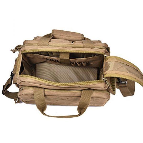 REEBOW TACTICAL Pistol Case 5 REEBOW TACTICAL Tactical Gun Range Bag, Deluxe Pistol Shooting Range Duffle Bags