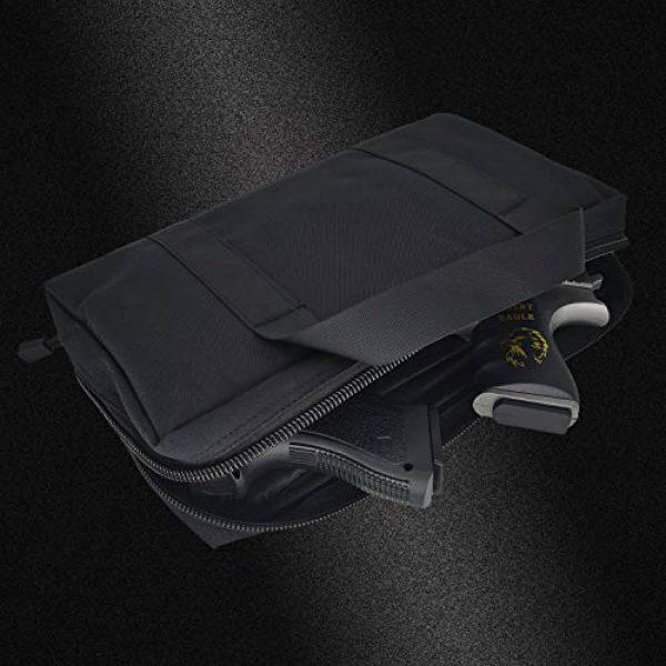 Champlus Pistol Case 6 Pistol Range Bag Tactical Pistol Bag Range Bags for Handguns and Ammo Soft Pistol Case Gun Range Bag for Handguns, Pistols and Ammo Shooting Range Pistol Bag Handgun Magazine Pouch-Black 1 Pack