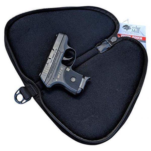 Cedar Mill Fine Firearms Pistol Case 1 Cedar Mill Fine Firearms - Deluxe Tactical Soft Pistol Gun Rug Case | Thick Double Padding