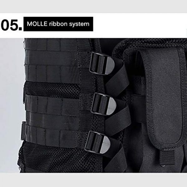 LMTXXS Airsoft Tactical Vest 6 LMTXXS Outdoor Tactical Vest, Multi-Pocket Hunting Vest for Camping Hiking, Durable Adjustable Shoulder Straps Army Vestfor Adults
