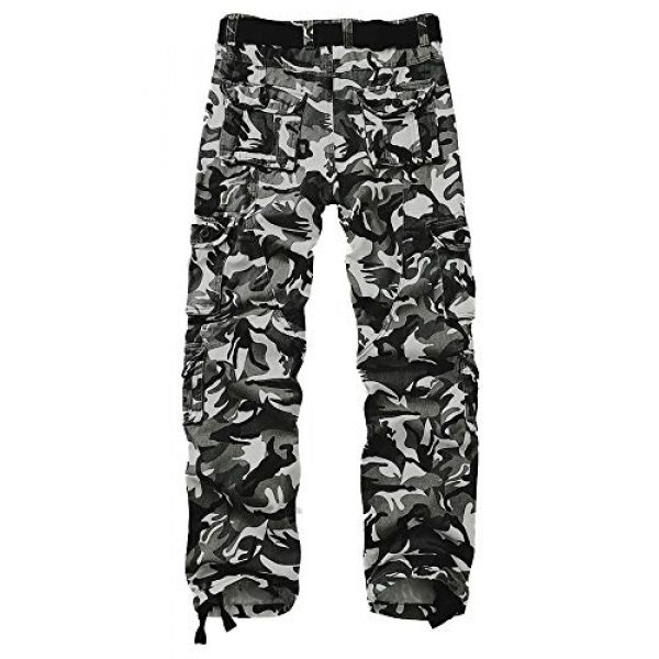 AKARMY Tactical Pant 2 Men's Military Tactical Pants Work Cargo Pants Casual Relaxed Fit Trousers with Multi Pockets