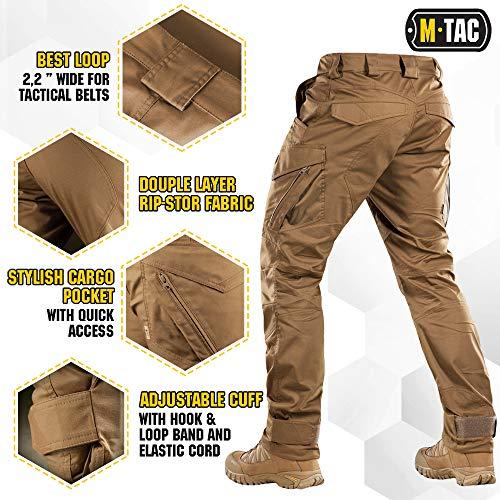 M-Tac Tactical Pant 4 Aggressor Flex - Tactical Pants - Men Cotton with Cargo Pockets