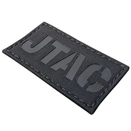 Tactical Freaky Airsoft Morale Patch 1 Blackout JTAC Joint Terminal Attack Controller Air Support FAC Infrared IR 3.5x2 Tactical Morale Touch Fastener Patch