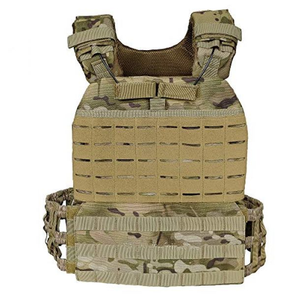 Armiya Airsoft Tactical Vest 1 Mens Molle Tactical Military Chest Rig Law Enforcement Work Vest Security Training Tool Pouch for Outdoor Paintball CS Game Airsoft Climbing Hiking