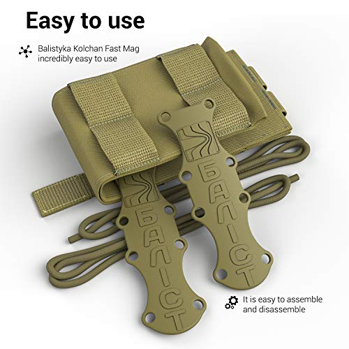 ATAIRSOFT  5 ATAIRSOFT KOLCHAN Fast MAG Mini Pouch 5.56mm 7.62mm 5.45mm Top Open Magazine Pouches Airsoft Hunting Equipment Holder Very Durable of 1000 D Cordura fastmag Holster and MOLLE Compatible