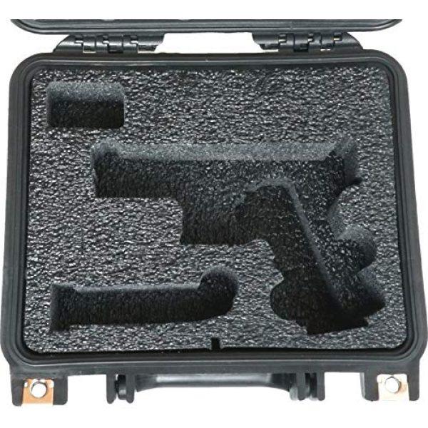 Case Club Pistol Case 2 Case Club Glock 19 & 4 Magazine Pre-Cut Heavy Duty Waterproof Case (Accommodates Optics, Under Barrel attachments & Speed Loader)