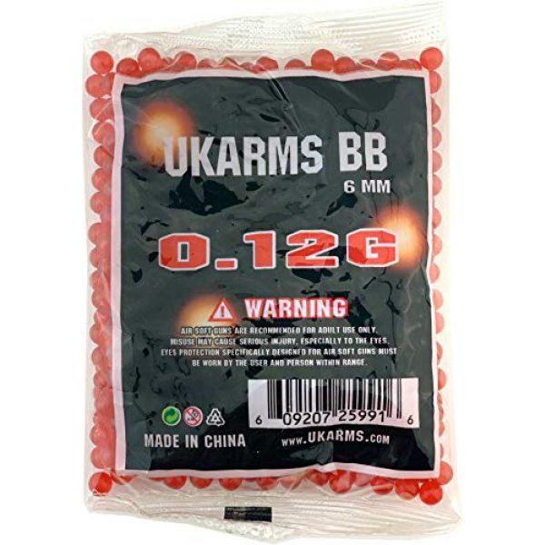 UKARMS Airsoft BB 5 UKArms BBTac 1000 Bag .12 Gram 6mm BBs For Airsoft Guns - 1 Bag of 1000 BBs