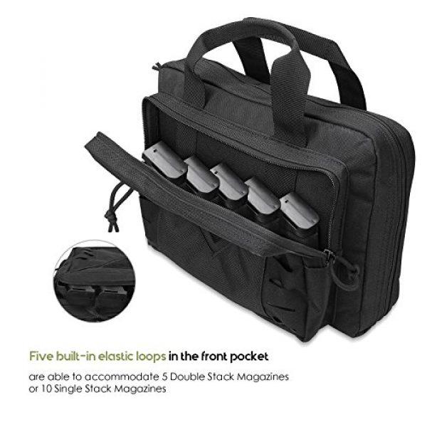 ProCase Pistol Case 5 ProCase Tactical Pistol Case, Shooting Range Pistol Bag Handgun Magazine Pouch Shooting Range Duffle Bag for Hunting or Shooting Range Sport