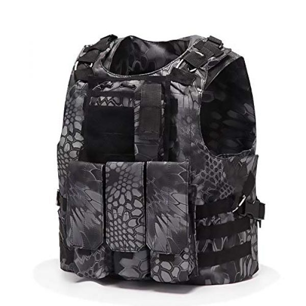 WEQ Airsoft Tactical Vest 1 WEQ Tactical Vest Outdoor Amphibious Vest Ultra-Light Breathable Combat Training Vest Adjustable for Adults(Standard Size) (Color : #C)