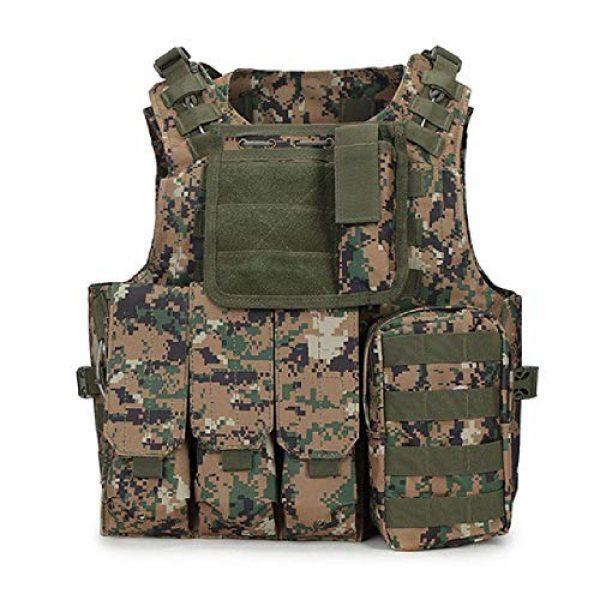 BGJ Airsoft Tactical Vest 1 BGJ Tactical Vest Military Combat Armor Vest Mens Army Airsoft Hunting Vest Adjustable Outdoor CS Paintball Training Protective Vest