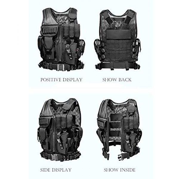 WEQ Airsoft Tactical Vest 5 WEQ Tactical Vest Modular Charge Vest Police Vest Law Enforcement Vest Adjustable Breathable Combat Training Vest