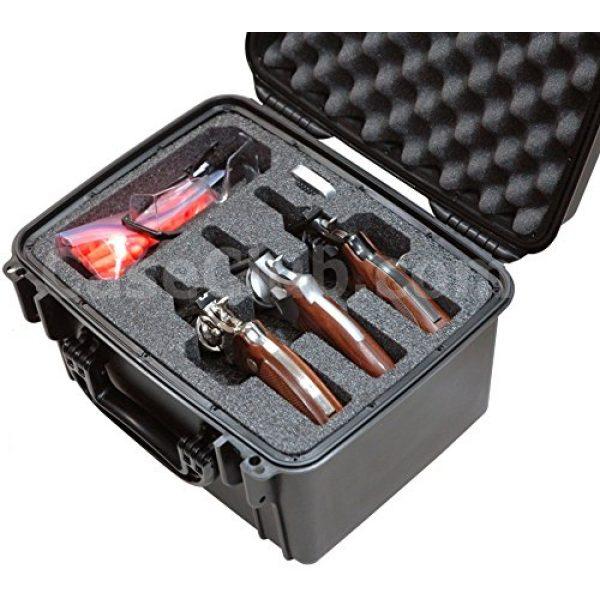 Case Club Pistol Case 2 Case Club Waterproof 3 Revolver/Semi-Auto Pre-Cut Case with Silica Gel to Help Prevent Gun Rust