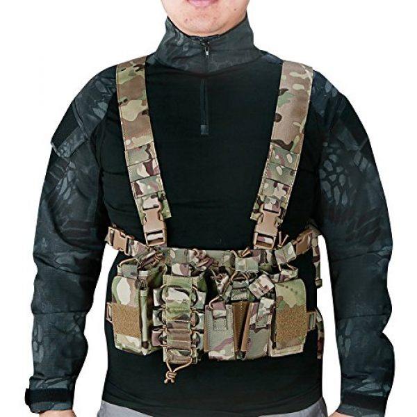 OAREA Airsoft Tactical Vest 2 OAREA Tactical Sling Vest Chest Rig Combat Recon Gear Vest with Magazine Pouch for Airsoft Hunting Games