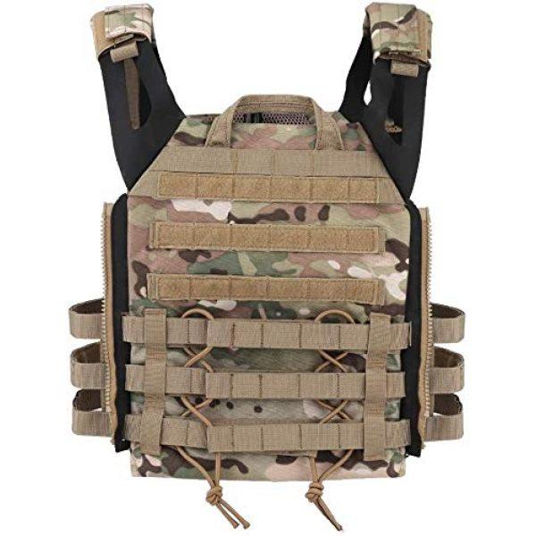 Kayheng Airsoft Tactical Vest 3 Kayheng Tactical Vest + Backpack/Modular Vest + Backpack/Breathable Combat Training JPC Vest Adjustable Lightweight MOLLE Vest