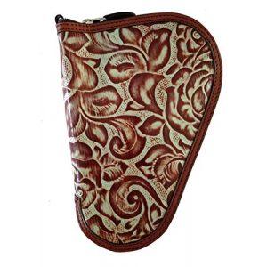 TLT Pistol Case 1 TLT Turquoise & Brown Leather Handgun Case - Small