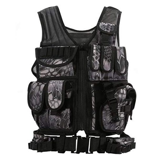 BGJ Airsoft Tactical Vest 2 BGJ Tactical Vest Military Combat Army Armor Vests Molle Airsoft Plate Carrier Swat Vest Outdoor Hunting Fishing CS Training Vest