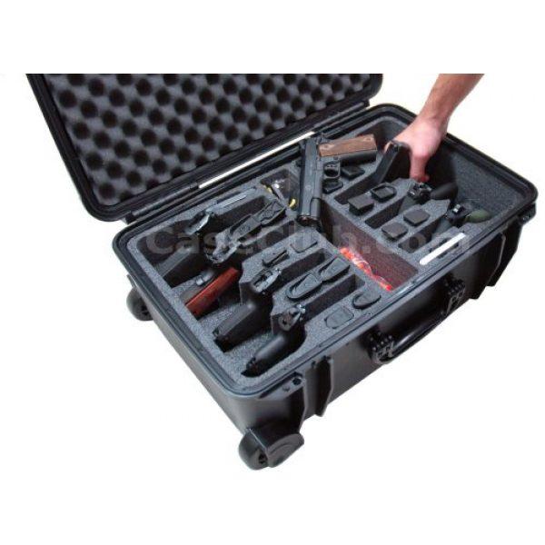 Case Club Pistol Case 5 Case Club 8 Pistol Pre-Cut Waterproof Case with 2 Silica Gel Canisters to Help Prevent Gun Rust