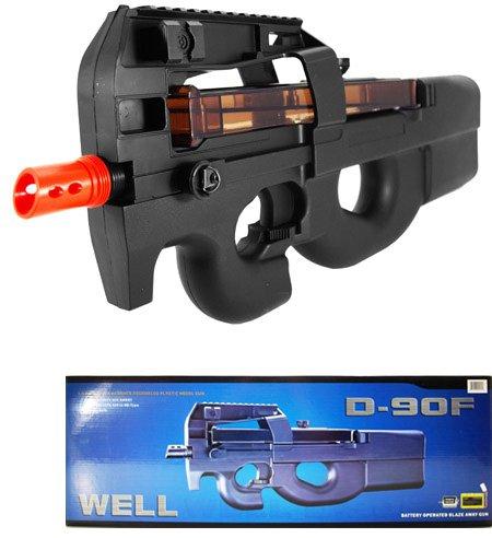 Well  1 Well d90f aeg auto electric sub machine gun airsoft p90 assault rifle(Airsoft Gun)
