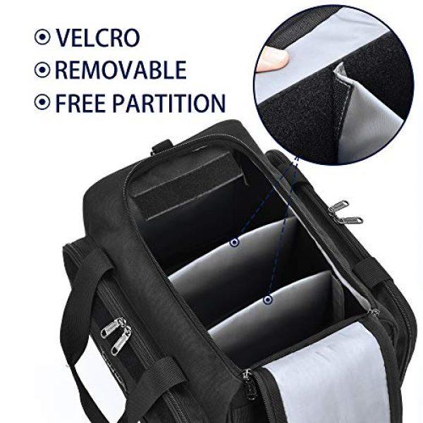 Partage Pistol Case 4 Partage Gun Range Bag Deluxe Pistol Shooting Range Duffle Bags with Velvet Cushion -Black