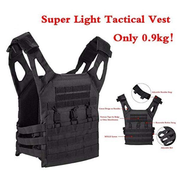 GXYWAN Airsoft Tactical Vest 2 GXYWAN Tactical Vest, Ghost Anti-War Vest Combat Uniform Camouflage Line Vest (Black)