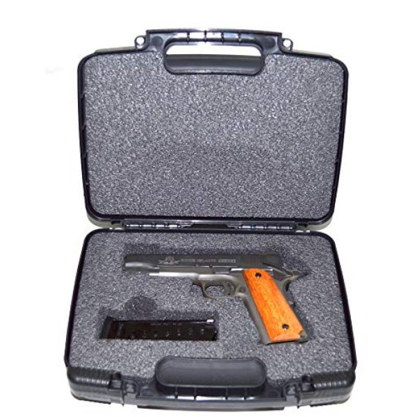 Quick Fire Cases Pistol Case 3 Quick Fire Cases QF200 MultiFit Pistol Case, Black, Small