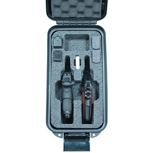 Case Club Pistol Case 4 Case Club 2 Revolver/Pistol Pre-Cut Top Loader Case with Silica Gel to Help Prevent Gun Rust