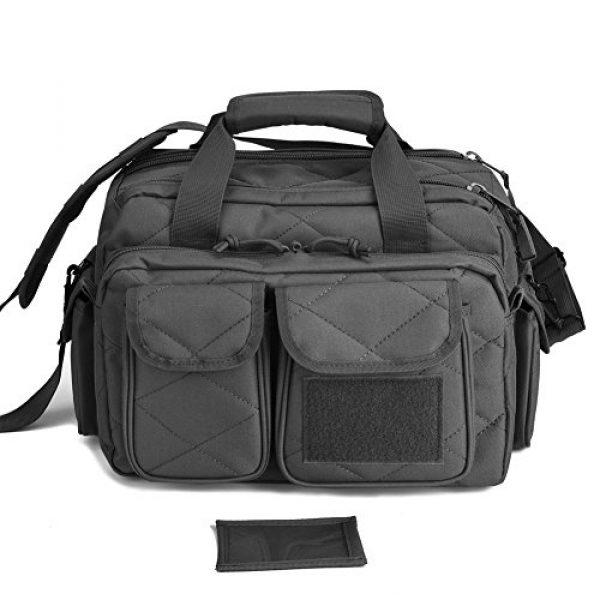 REEBOW TACTICAL Pistol Case 2 REEBOW TACTICAL Tactical Gun Range Bag, Deluxe Pistol Shooting Range Duffle Bags