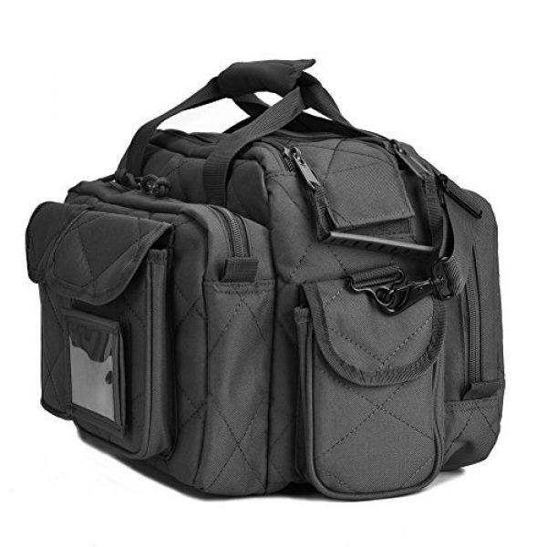 REEBOW TACTICAL Pistol Case 3 REEBOW TACTICAL Tactical Gun Range Bag, Deluxe Pistol Shooting Range Duffle Bags