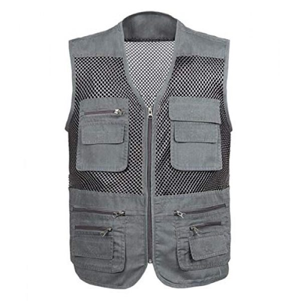 DAFREW Airsoft Tactical Vest 1 DAFREW Breathable Vest Photography Vest Fishing Vest Middle-Aged Men's Outdoor Leisure Vest mesh Breathable Vest (Color : Dark Gray, Size : M)